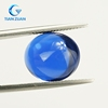 Machine cut 113# blue color oval cabochon synthetic spinel for decoration