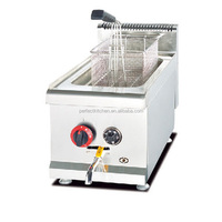 Stainless Steel Commcerial Gas deep Fryer / High Quality Gas Deep Fryer