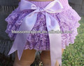 Lavender lace ruffle baby bloomer with big bow