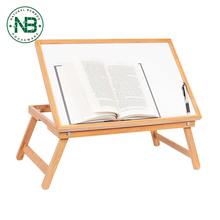 2017 laptop bed tray/travel Bamboo Lap Tray with White Top
