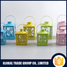 Colorful Beautiful 9.3*9.3*13 CM Steel Powder Coated Lantern 452317