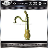 Polished Hot Sale Single Handle Brass Bathroom Basin Sink Waterfall Washing Kitchen Faucet