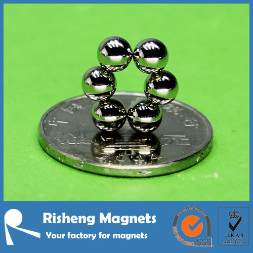 nickel copper Cr silver gold 5mm magnetic balls