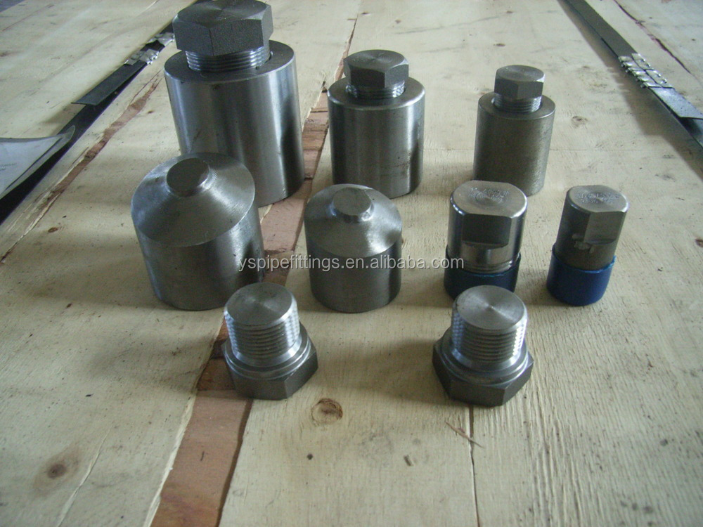 types of carbon steel pipe duplex stainless steel pipe price Forged Carbon Steel butt plug Pipe Fitting Round Plug