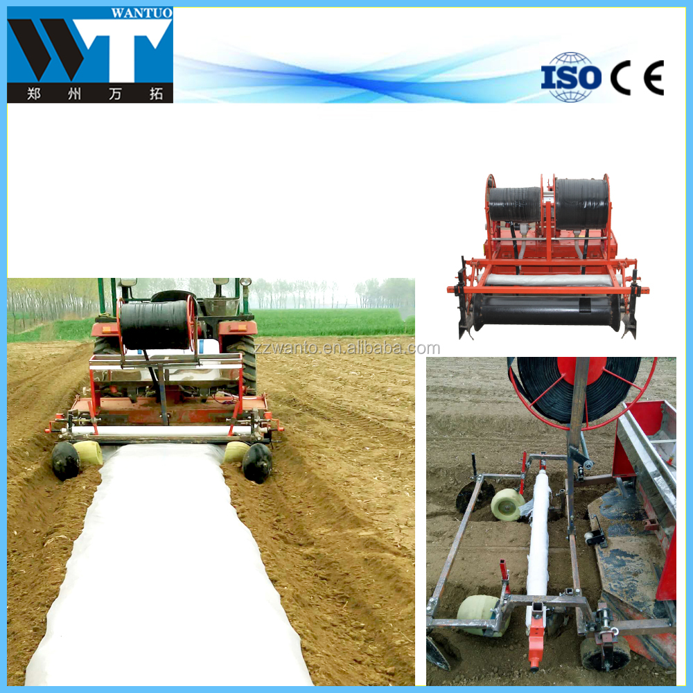 Multi-function film plastic mulching laying machine for tractor