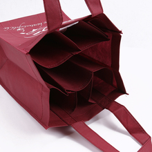 OEM Promotional non woven 6 bottle wine tote bag