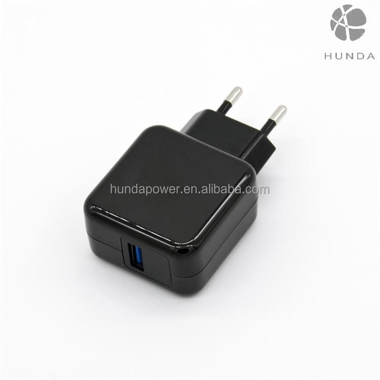 New arrival single port QC3.0 travel charger, QC3.0 usb adapter, QC3.0 wall charger for mobile phone and tablets