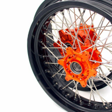 KTM 620 640 660 LC4 SMC CUSH DRIVE SUPERMOTO MOTARD WHEEL SET 5.0*17''