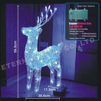 led lighted christmas decorations outdoor crystal reindeer light