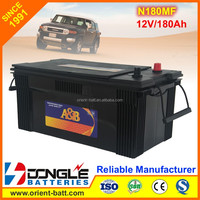 Japan Standard Heavy Weight of Truck Battery N180 12V 180Ah