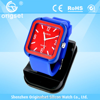 Newest watch Silicone Multi-color Japan movement waterproof colorful watch faces