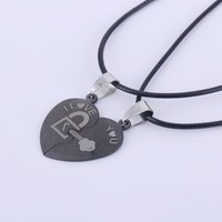 Titanium Necklace Stainless Steel Couple Necklace