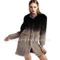 CX-G-A-02 Dip Dyed Knitting Women Genuine Mink Fur Lady Jacket