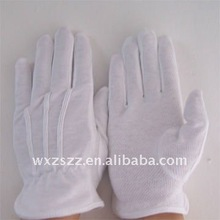 white cotton glove with pvc dots on palm With Great Low Price