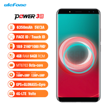 Ulefone Power 3S 6.0 inch 18:9 FHD Face ID cellphone 6350mah fast charger cell phone 4GB/64GB Four Camera china mobile phone