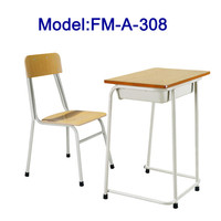 FM-A-308 Cheap price school desk and chair for study