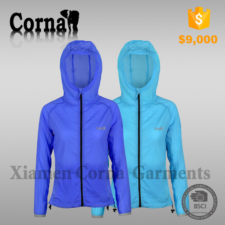 Ultralight windbreaker ladies jackets free samples
