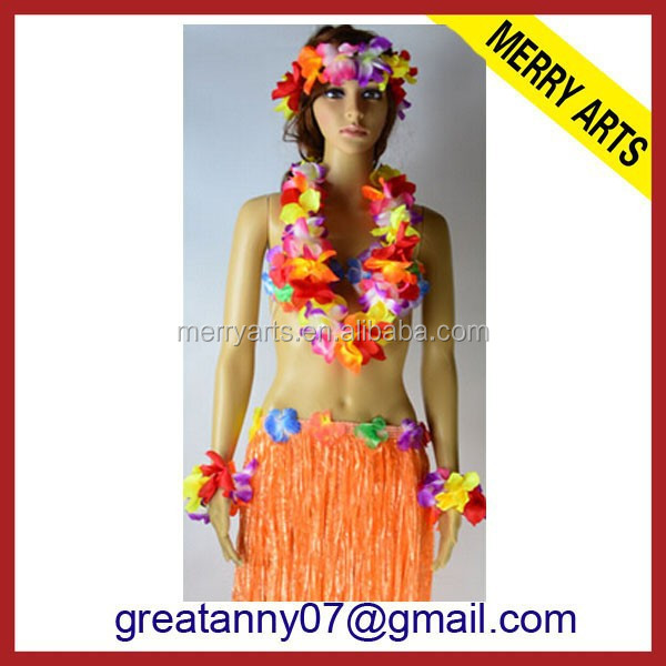 Alibaba express china supplier Customized Promotion Hawaii Flower Lei/Flower Necklace/Flower Garland