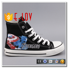 Captain America The Avengers design wholesale custom printed canvas shoes