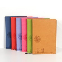 Office & school supplier pu leather personalized diary note book wholesale cheap school stationery notebook