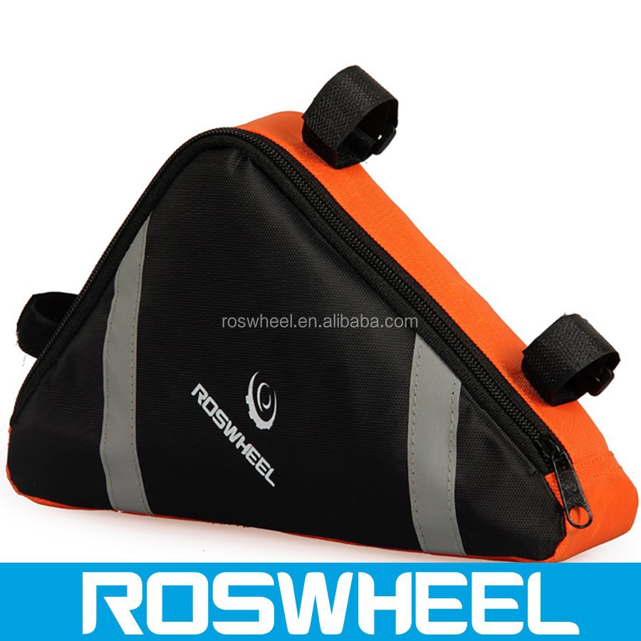 Wholesale high quality separate compartment triangle bicycle frame bag12490