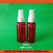 50ml colorful recycling perfume fill plastic clear spray red pet bottle