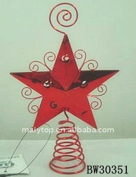 metal star tree top