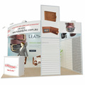 Detian Offer 10x10 trade show booth for belt wallet display