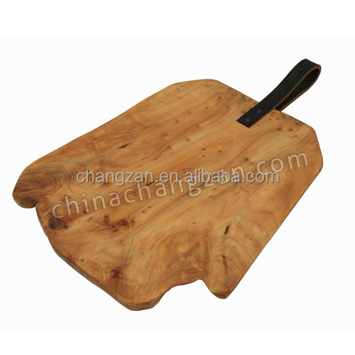 Newest Natural Color Handly Carved Wooden Fir Root Board