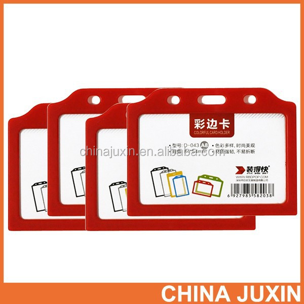 Wholesale RBD High quality PVC hard plastic card holder name badge