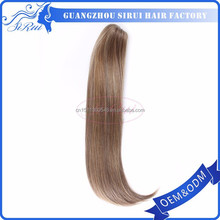 Fashion synthetic hair extension black ponytail women hairpieces, black hair piece for men, black women wigs and hair pieces