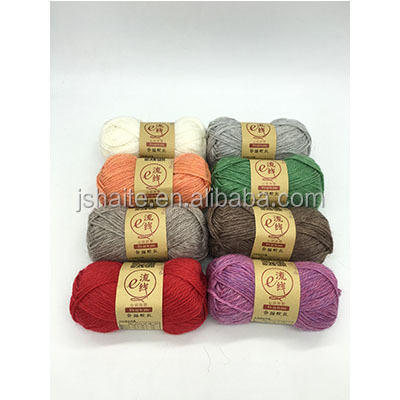 Alpaca and wool and acrylic blended yarn for hand knitting