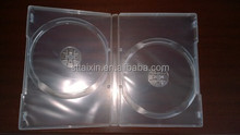Taixin 14mm black single/double clear pp box for dvd