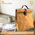 Washable Brown Kraft Paper Insulated Lunch Food Sandwich bag