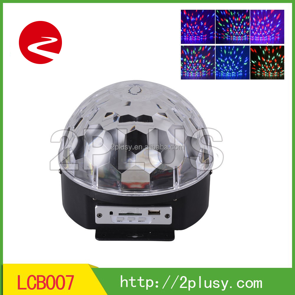 LED crstal magic ball with speaker/stage light with TF card and Bluetooth