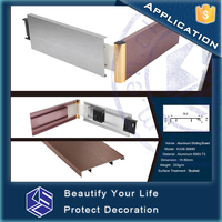 Eco-friendly economic expansion joints outdoor floor skirting board