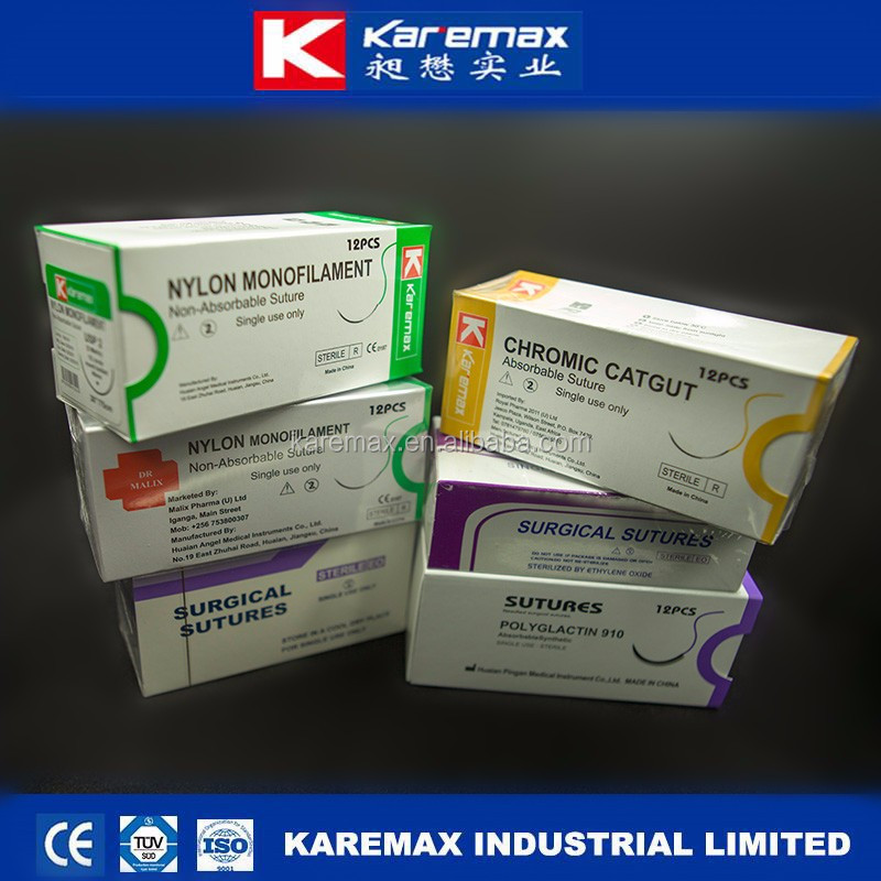 non absorbable material suture surgical with cheap price CE ISO FDA