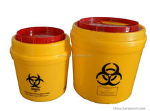 3 Liter round Plastic medical disposable sharps container, sharps box, medical disposal bins