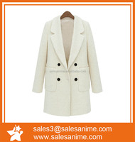 Woolen coat 2015 fall and winter clothes new European and American women's hair was thin and long sections