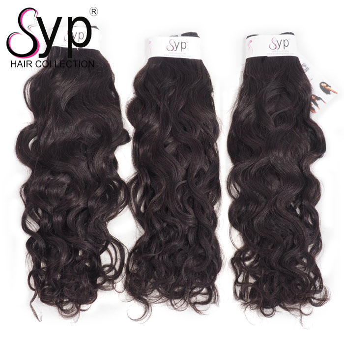 Cuticle Aligned Virgin Human Peruvian Hair 100g Water Wave Bundles Extension Free Shipping Paypal