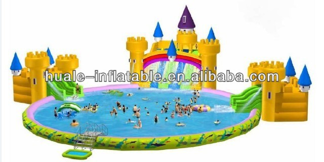 2015 New brand water park slides for sale, giant inflatable water slide, hot spongebob swimming pool slide