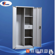 Steel Closet Designs Locker Metal Mirror Wardrobe in Bedroom