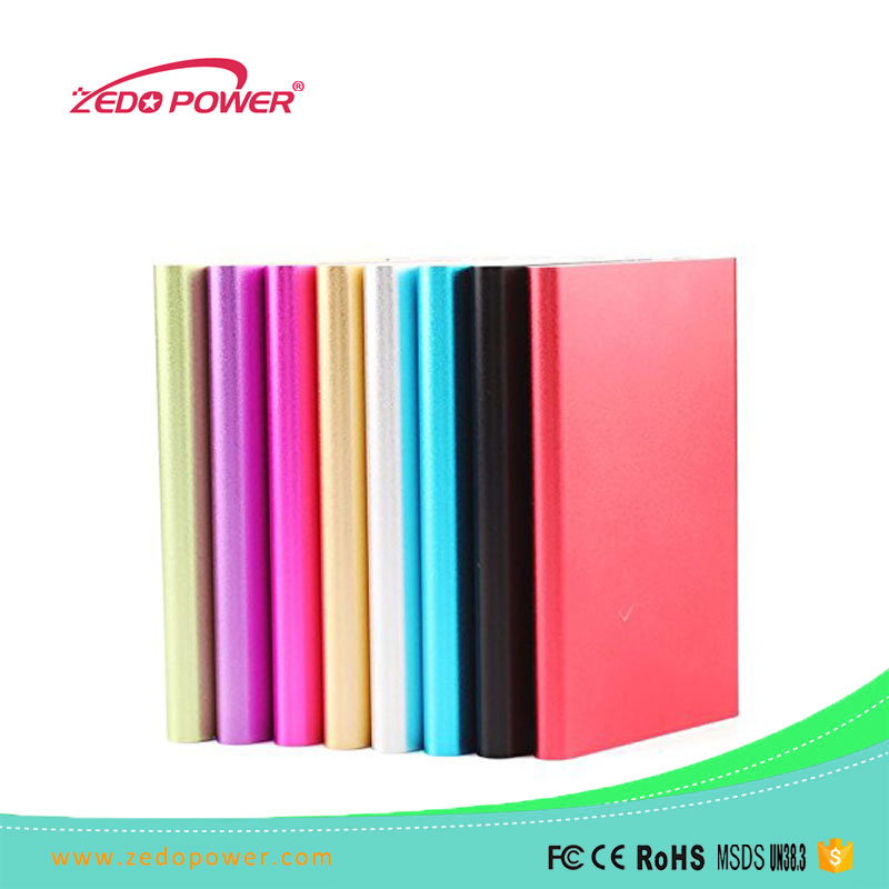 Ultra-thin Large Capacity Battery Rechargeable lithium-ion polymer battery 5000mah Power Bank