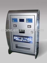Wall mounted Button type Phone Card vending machine with remotely sales report