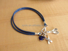 Fashion Blue Awareness Bracelet (Cotton)
