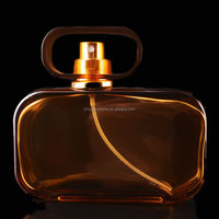 The brown sexy most popular men's fragrance glass perfume bottles with cap and sprayer