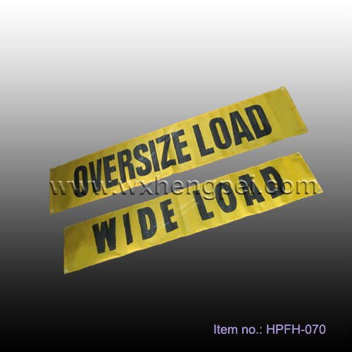 reversible oversize/wide load sign/flag