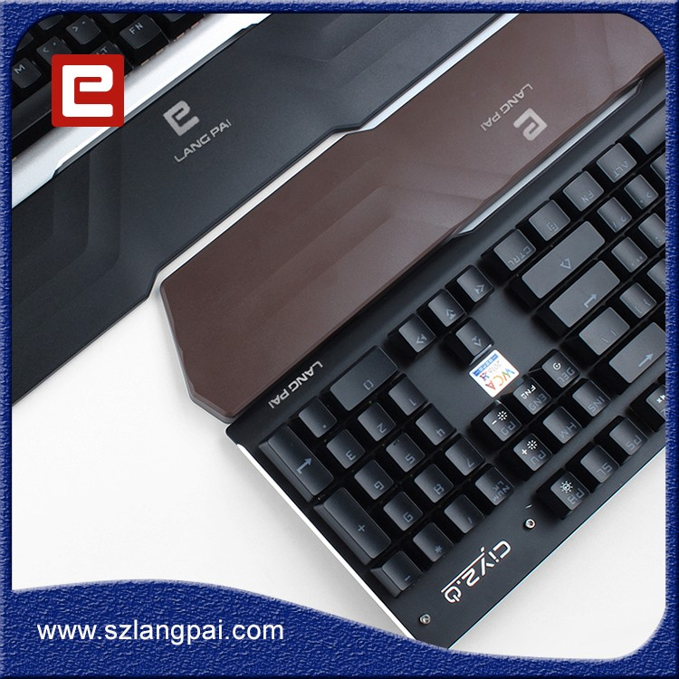 Mechanical Switch Illuminated Gaming Keyboard with Colorful LED