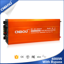 50HZ 12V 220V 4000W high efficiency inverter with bypass