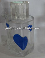 100ML heart glass perfume bottle with heart cap